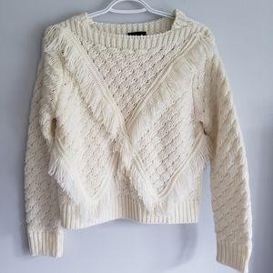 Majorelle Fringed Knit Sweater